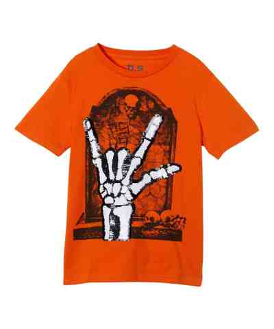 Zulily: Orange Skeleton Hand Tee - Boys Only $5.99 (Reg. 19.99)