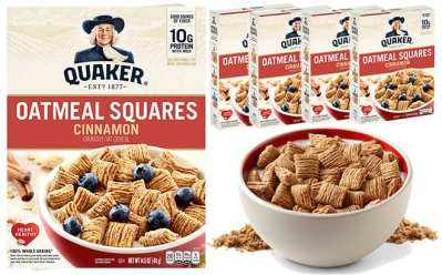 Amazon: Quaker Oatmeal 4-Pack Cinnamon Squares Cereal ONLY $9.11