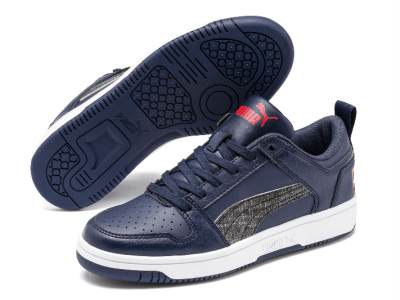 Puma: Rebound LayUp Garment Washed Sneakers JR ONLY $29.99 (Reg $50)