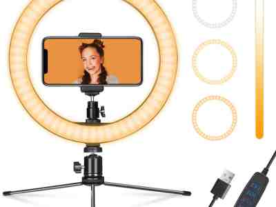 """Amazon: Ring Light 10"""" with Stand & Phone Holder, Just $14.68 with coupon!"""