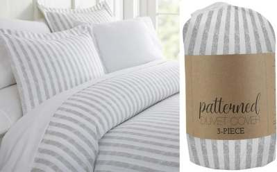 Home Depot: Rugged Stripes 3-Piece Duvet Cover Set ONLY $16.78 (Regularly $36.26)
