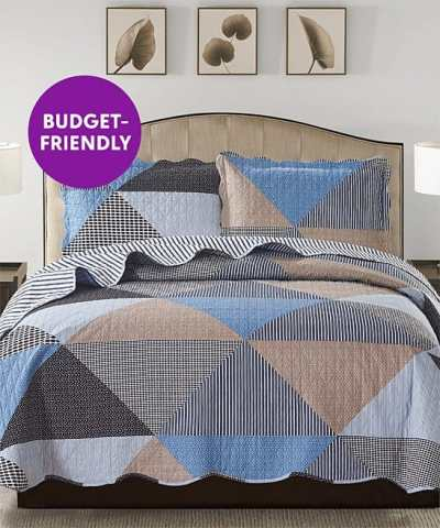 Zulily: Blue Suzy Reversible Quilt Set ONLY $18.99 (Reg $60)