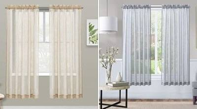 Amazon: Sheer Curtains, 75% off after code!