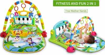 Amazon: Baby Activity Gym Rack Piano Fitness Playmat $19.99 (Reg $46)