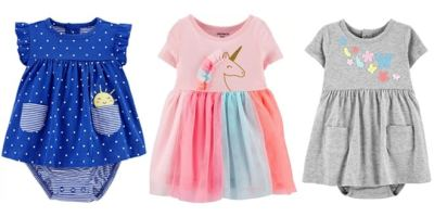 Carter's: Baby, Toddler & Girls' Dresses Up to 80% OFF – Starting at ONLY $5!