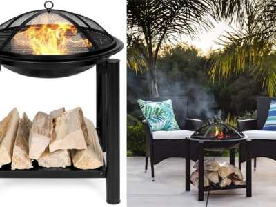 BCP: Fire Pit Table with Storage Shelf ONLY $55.99 + FREE Shipping (Reg $86)