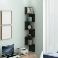 Furinno 5 Tier Wall Mount Floating Corner Shelf $15.75(Reg. $59.99)