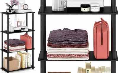Home Depot: Furrino 4-Tier Etegere Bookshelf JUST $20.44 (Reg. $34)