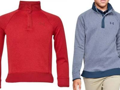 Dick's : Under Armour Boys' Half-Snap Golf Pullover JUST $20.97 (Reg $55) – 3 Colors Available!