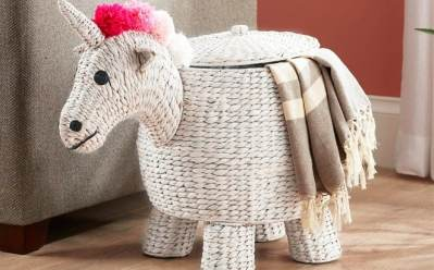 Home Depot: StyleWell Unicorn Decorative Basket with Lid JUST $52 + FREE Shipping (Reg $119)