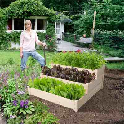 Walmart: Yaheetech 3 Tier Wooden Elevated Raised Garden Bed Planter Box Kit Natural Wood Just $65.99 At (Reg.$99.99)