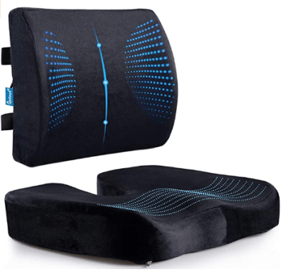 Amazon: Memory Foam Coccyx Seat Cushion & Lumbar Support Pillow for $33.14 (Reg. $38.99)