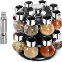 Amazon : 16-Jar Spice Rack with Salt & Pepper Grinders Just $15.96 W/Code + 6% Off Coupon (Reg : $37.99)