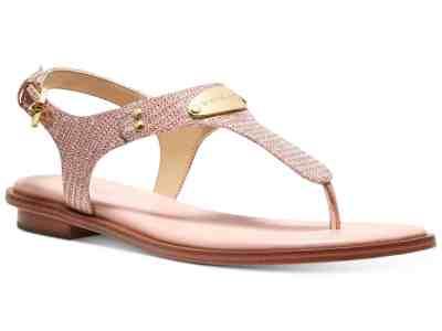 Macy's: MICHAEL Michael KORS MK Plate Flat Thong Sandals Just $44.99 At (Reg.$79.00)