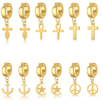 Amazon: Cross Earring 6 Sets for $3.20 W/ Code (Reg. $15.99)
