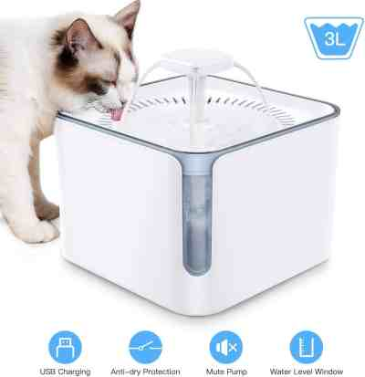 Amazon: 100oz/3L Automatic Cat Dog Water Fountain for $13.99 (Reg $27.98)