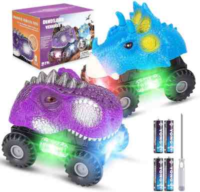 Amazon: 2 Pack Dino Cars with LED Light + Sound for $10.49W/Code (Reg. $20.99)