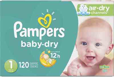 Amazon: Newborn/Size 1 (8-14 lb), 120 Count - Pampers Baby Dry Disposable Baby Diapers, Super Pack for $24.27 (Reg. $37.01)