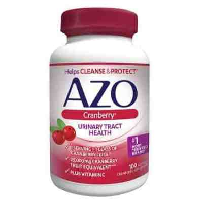 Amazon: AZO Cranberry, Urinary Tract Health Supplement, 100 Count Only $7.75