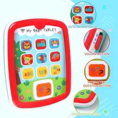Amazon: Tablet w/ Music & Light, Learning Education Interactive Tablet Toy $9.99 ($20)