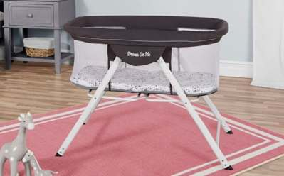 Walmart: Dream On Me Portable Bassinet Dark Grey ONLY $56.09 + FREE Shipping (Reg $107)