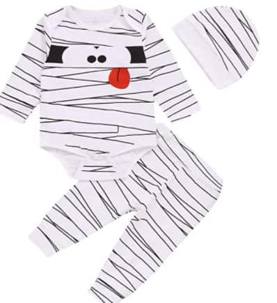 Amazon: Baby Halloween Mummy Stripes Clothing for $9.59 (Reg. Price $15.98) after code!