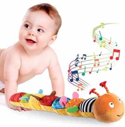 Amazon: Baby Toy Crinkle Rattle Musical Caterpillar for $11.89 (Reg. Price $16.99) after code!