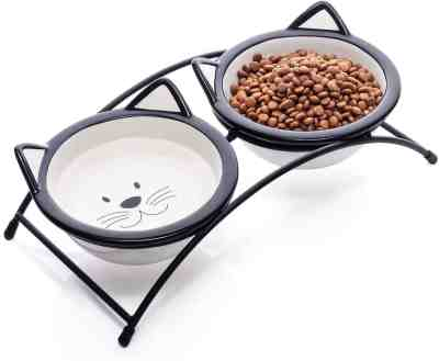 Amazon: Cat Bowls,Elevated Cat Food Water Bowls, Just $11.99 (Reg $23.99) after code!
