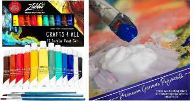 Amazon: Crafts 4 ALL Acrylic Paint Set 12 Colors $8.99 ($15)