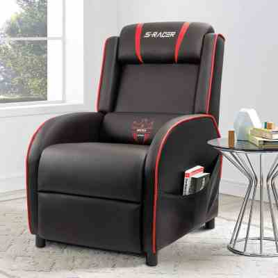 Homall Gaming Recliner Chair with PU Leather $135.00 -$138.99 (Reg $199.00)