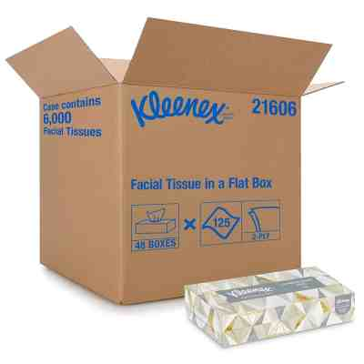 Amazon: Kleenex Professional Facial Tissue for Business, Flat Tissue Boxes, 48 Boxes, Just $58.05 (Reg $183.36)