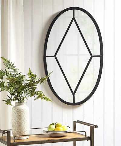 Zulily: Black Cantitoe Oval Wall Mirror ONLY $139.99 (Reg $288)