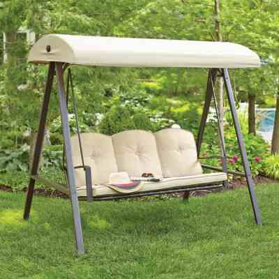 Home Depot: Hampton Bay Cunningham 3-Person Metal Outdoor Patio Swing with Canopy $152.15 (Reg $179)