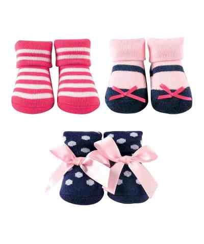 Zulily: Pink Luvable Friends Three-Pair Sock Set - Infant ONLY $7.98