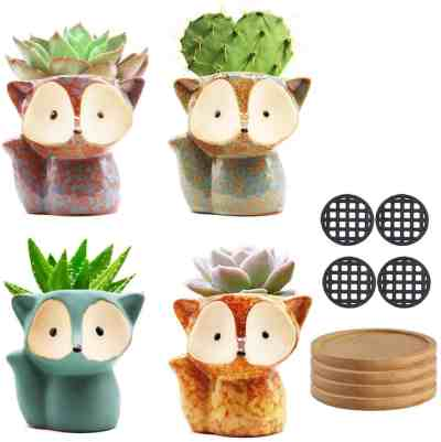 Amazon: Small Succulent Pots, 4 Pack for $8.94 (Reg. Price $17.88) after code!
