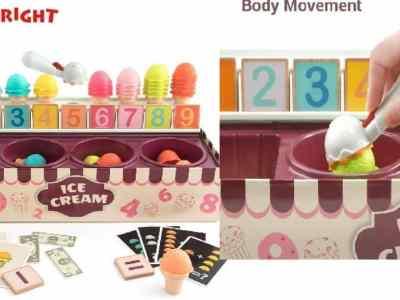 Amazon: Ice Cream Learning Toy – Montessori Pretend Play Math Toys $12.5 ($25)