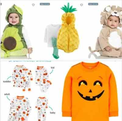 Carter's: Halloween Outfits & PJs, 50% off !