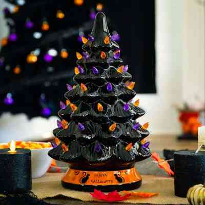 BCP: Ceramic Halloween Tree w/ Orange & Purple Bulb Lights ONLY $39.99 (Reg $65)