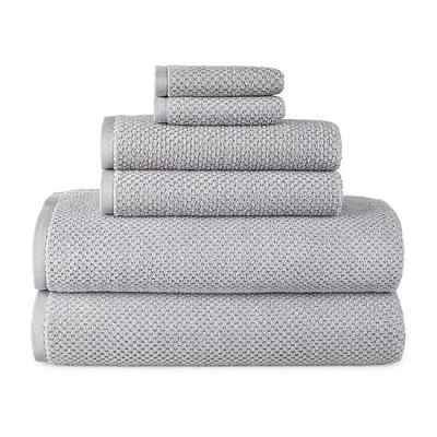 J C Penney : Home Quick Dri Textured Solid 6pc Towel Set $28.49 (Reg. $72) + Store Pickup.
