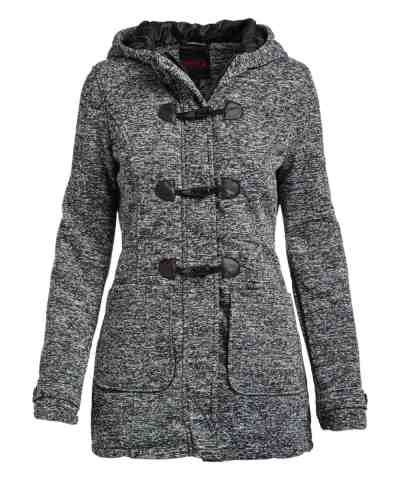 Zulily: Black Space-Dye Toggle-Accent Fleece Hooded Jacket -Women Just $19.99 At (Reg.$54.00)