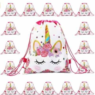 Amazon: 16 Pack Unicorn Drawstring Party Favors Bag for $9.96 (Reg. Price $15.99)