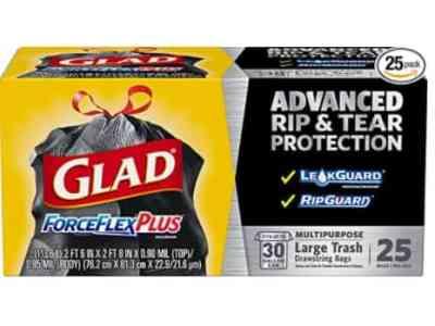 Amazon: 25 Count Glad Large Drawstring Trash Bags for $8.08 (Reg. Price $14.28)