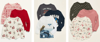 Old Navy: 3 Pack Baby/Toddler Shirts for $16.49 + Free Shipping