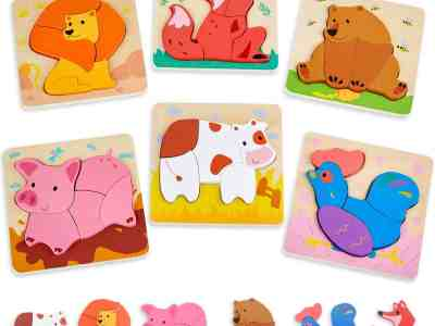 Amazon: 6 Pack Wooden Jigsaw Puzzles for $10.99 (Reg.Price $21.99) after code!