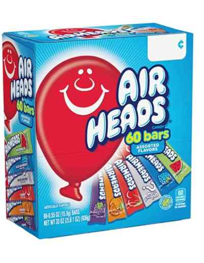 Amazon :60 Count Airheads Candy Bars, Variety Bulk Box for $7.98