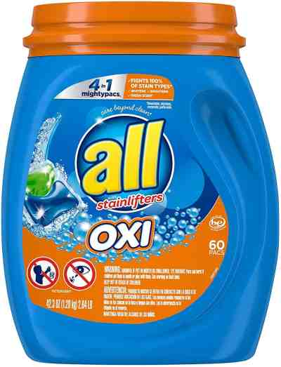 Amazon: 60 Count All Mighty Pacs Laundry Detergent 4 in 1 with Oxi, Tub for $8.97 (Reg.Price $14.99)