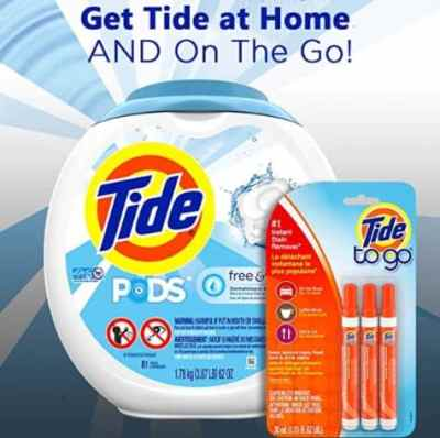 Amazon: 81 Pods Tide Free and Gentle Laundry Detergent + 3 Count Instant Stain Remover for $18.86 (Reg. Price $26.96)
