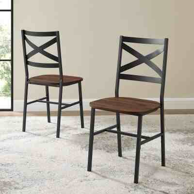 Jane: Angel Iron Wood Dining Chair|Set of 2 For $99.99 At Reg.$239.00