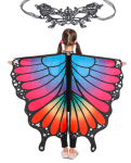 Amazon: Beautiful Butterfly Wings Shawl with Mask for Kids at 11+