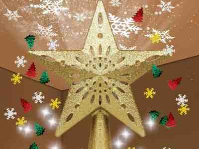 Amazon: TEEDOR Christmas Tree Topper Star Projector for $15+